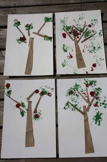 6 nápadů na tvoření podzimních stromů s předškoláky (1)