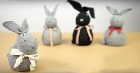 Vyrobte si roztomilého zajíčka bez šití díky tomuto videu