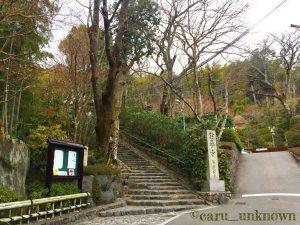 京都鈴虫寺の参道までの道