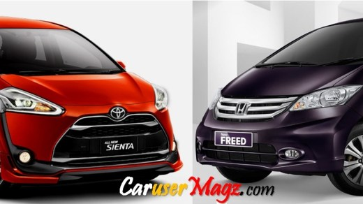Toyota Sienta vs Honda Freed
