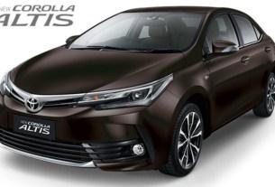 Toyota All New Corolla Altis 2017 Indonesia