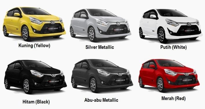 Pilihan Warna - Toyota Agya Facelift 2017