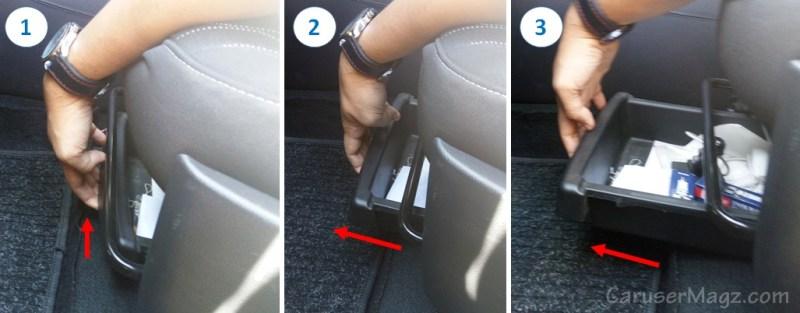 Cara Buka Laci bawah kursi Kia Picanto