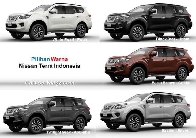 Pilihan Warna Nissan Terra Indonesia