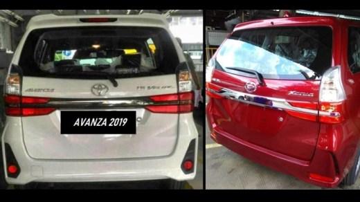 Toyota Avanza - Daihatsu Xenia 2019 - Tampak Belakang