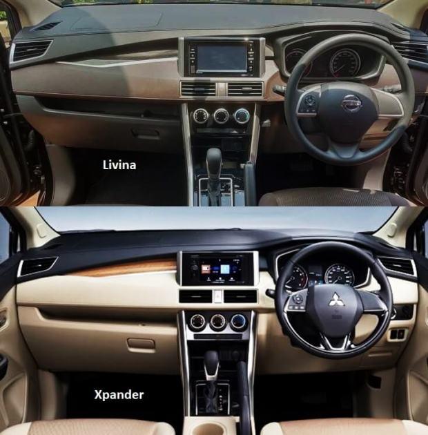 Perbedaan Xpander vs Livina 2019 - Interior Dashboard