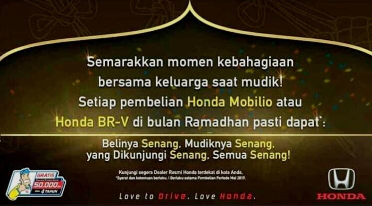 Bonus Beli Honda Mei 2019 - Promo Ramadhan