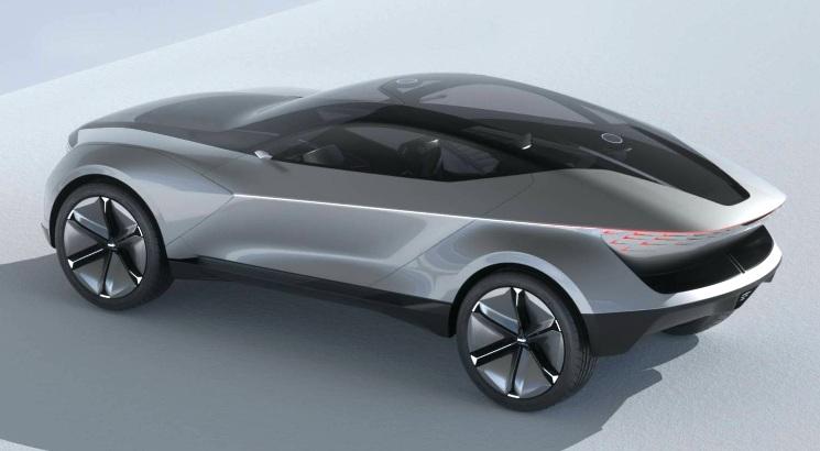 KIA Futuron Concept - Konsep SUV Listrik Tampak Belakang