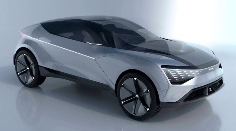 KIA Futuron Concept - Konsep SUV Listrik Tampak depan