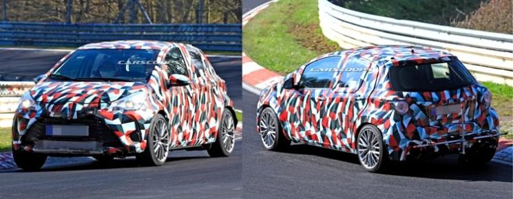 Toyota Yaris GR-4 Hot Hatch sedang uji kecepatan di Sirkuit Nurburgring