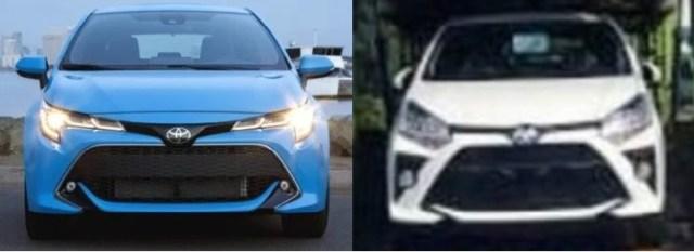 Wajah Toyota Corolla Hatchback dan Agya 2020