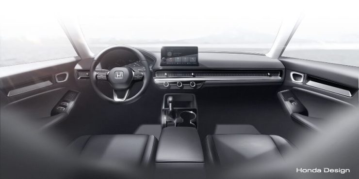 Interior Honda Civic Gen-11 - Sketsa Dashboard
