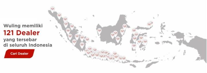 Jaringan Dealer Wuling di Indonesia - 121 Dealer pada Akhir 2020