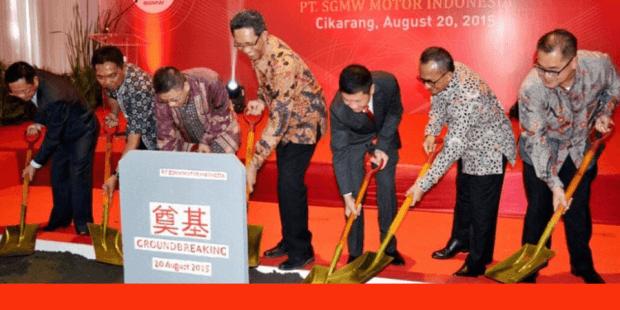 Prosesi Peletakan Batu Pertama Pabrik Wuling Indonesia - 20 Agustus 2015
