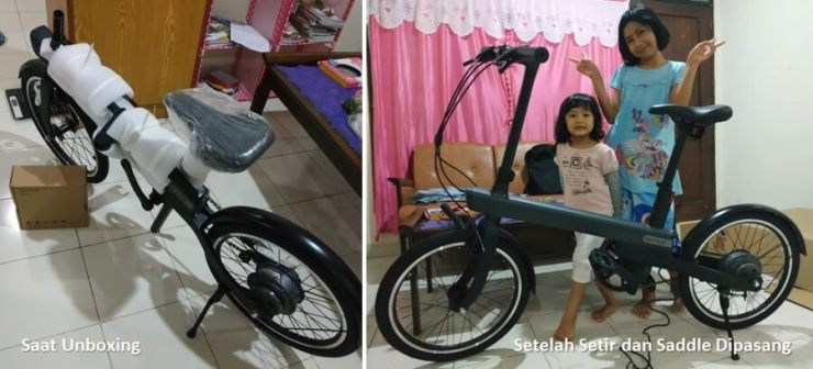 Unboxing Sepeda Xiaomi QiCycle EC1