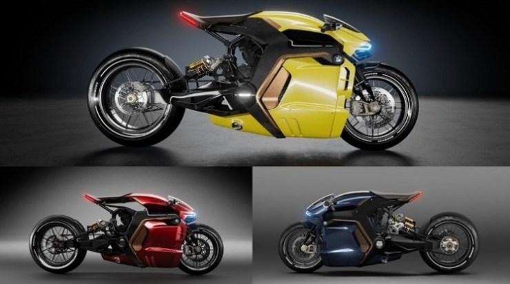 Konsep Motor BMW oleh Desainer - Tampak Samping