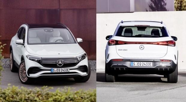 Mercedes EQA EV - Tampak Depan dan Belakang