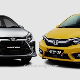 Honda Brio vs Agya 2020