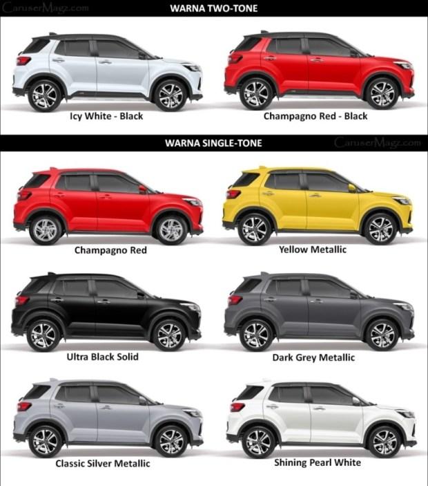 Warna Daihatsu Rocky 2021 - Dual dan Single Tone