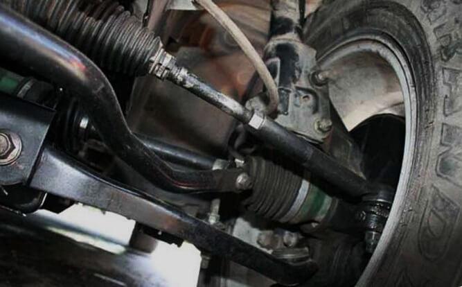 Komponen kaki-kaki mobil banyak bahan karet