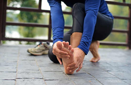 Runner with pain due to a neuroma