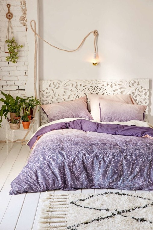 Purple duvet
