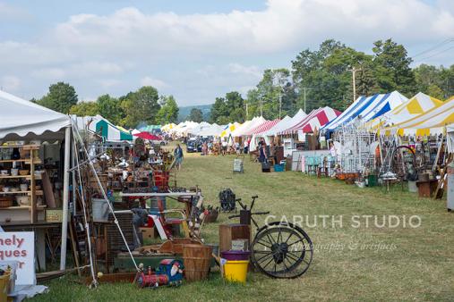 ally of vendor flea market tents