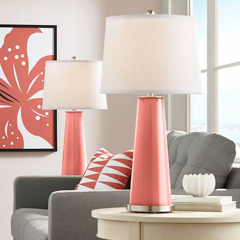 LampsPlus_Coral Reef Leo Table Lamp Set of 2