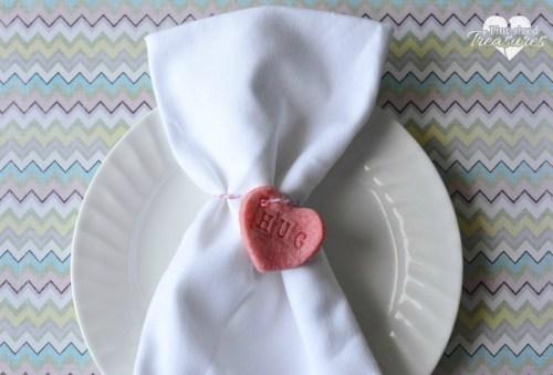 Salt Dough Hearts Napkin Ring