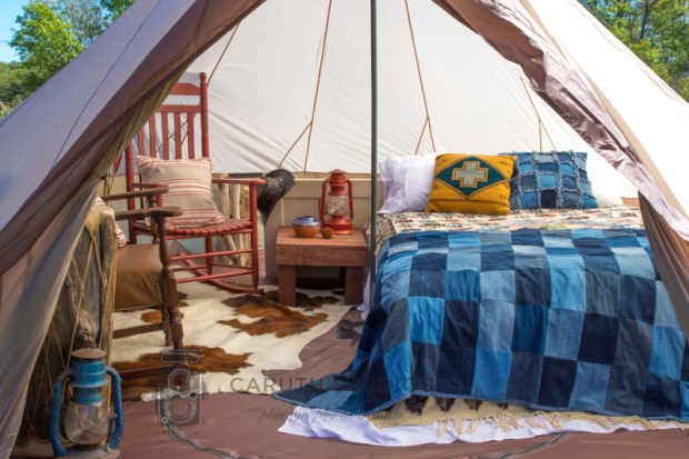southwestern style tipi glamping tent