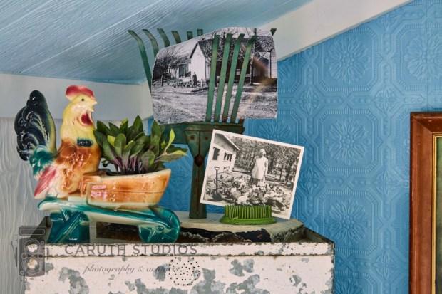 Mementos in hut