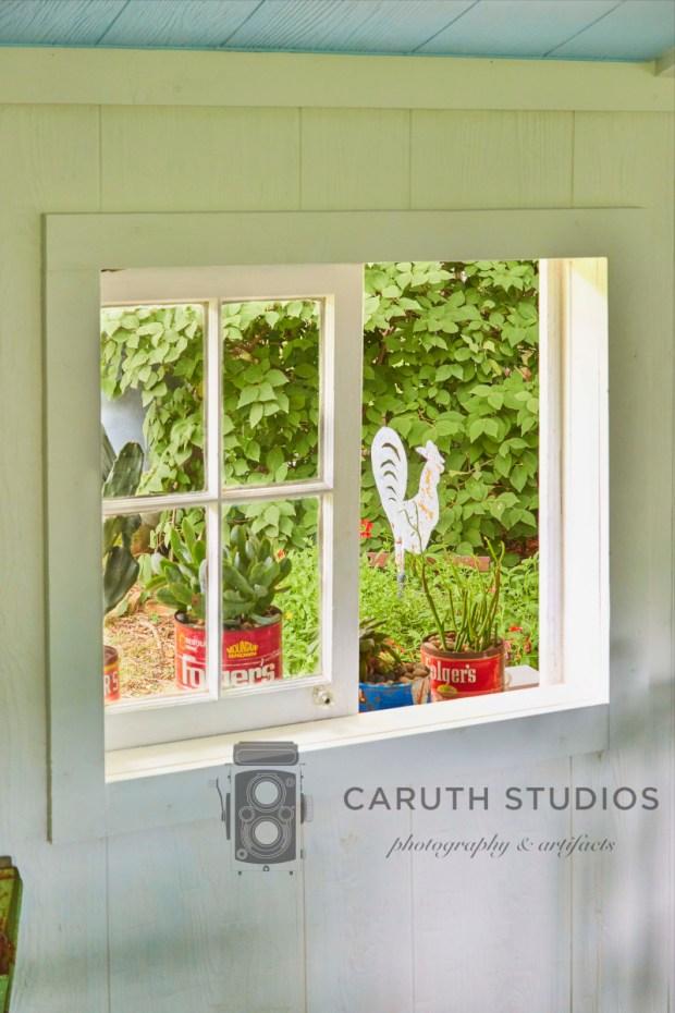 Through the hut window