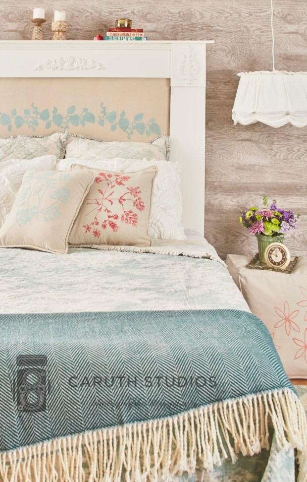 Bedroom drop cloth projects