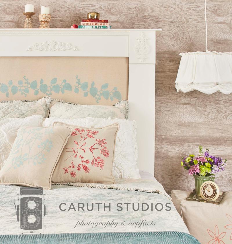 Drop cloth bedroom