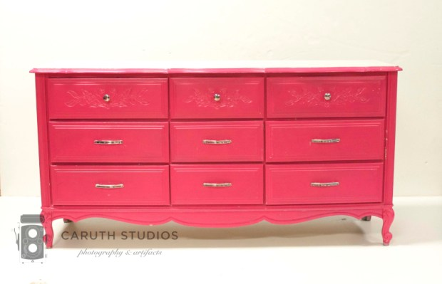 Hot pink chest of drawers