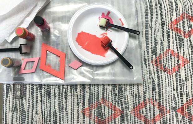 Stamping rag rug