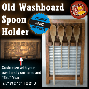 Washboard Spoon Holder