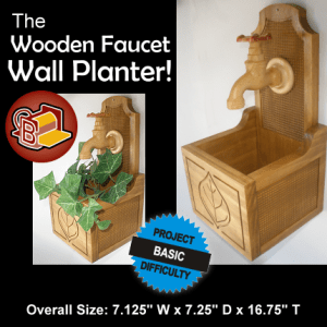 Wooden Faucet Wall Planter