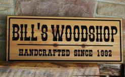 workshop woodshop sign