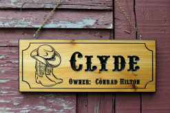 custom personalized horse stall sign