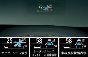 新型レクサスNXヘッドアップディスプレイ画像