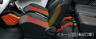 新型イグニス内装画像シートヒーター