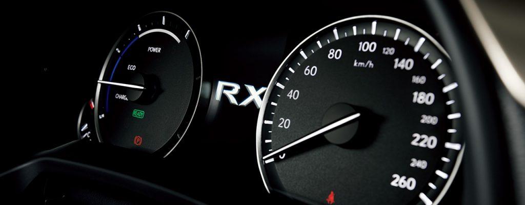レクサスRXメーター画像