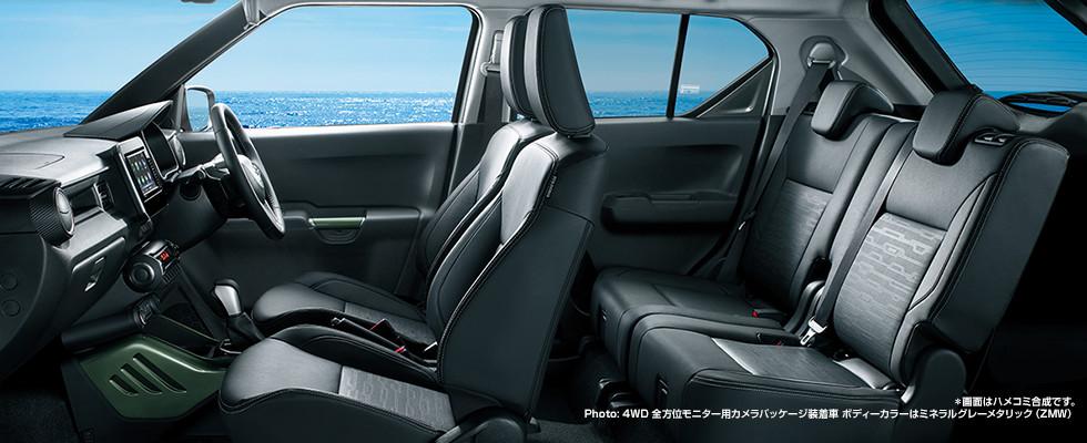 新型イグニス内装画像特別仕様車Fリミテッド
