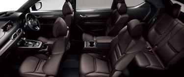新型CX-8の内装を画像でレビュー!3列シートの居住性とシートアレンジを徹底紹介!レザー色が良い感じじゃない!