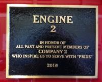 Engine 2 Plaque