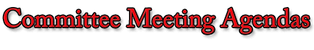 Committee Meeting Agendas