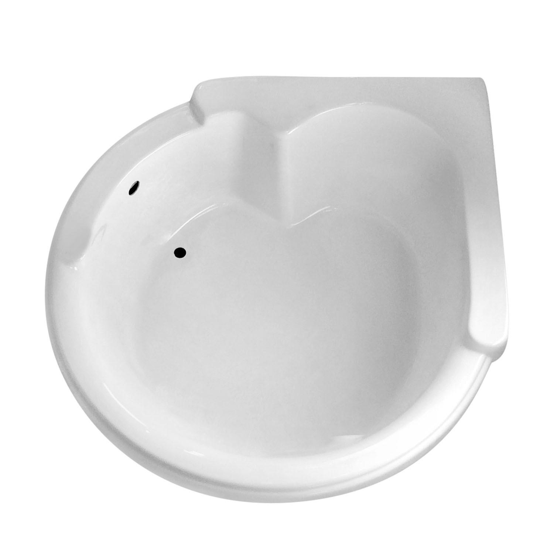 CW6464 64 X 64 Corner Drop In Soaking Bathtub Carver