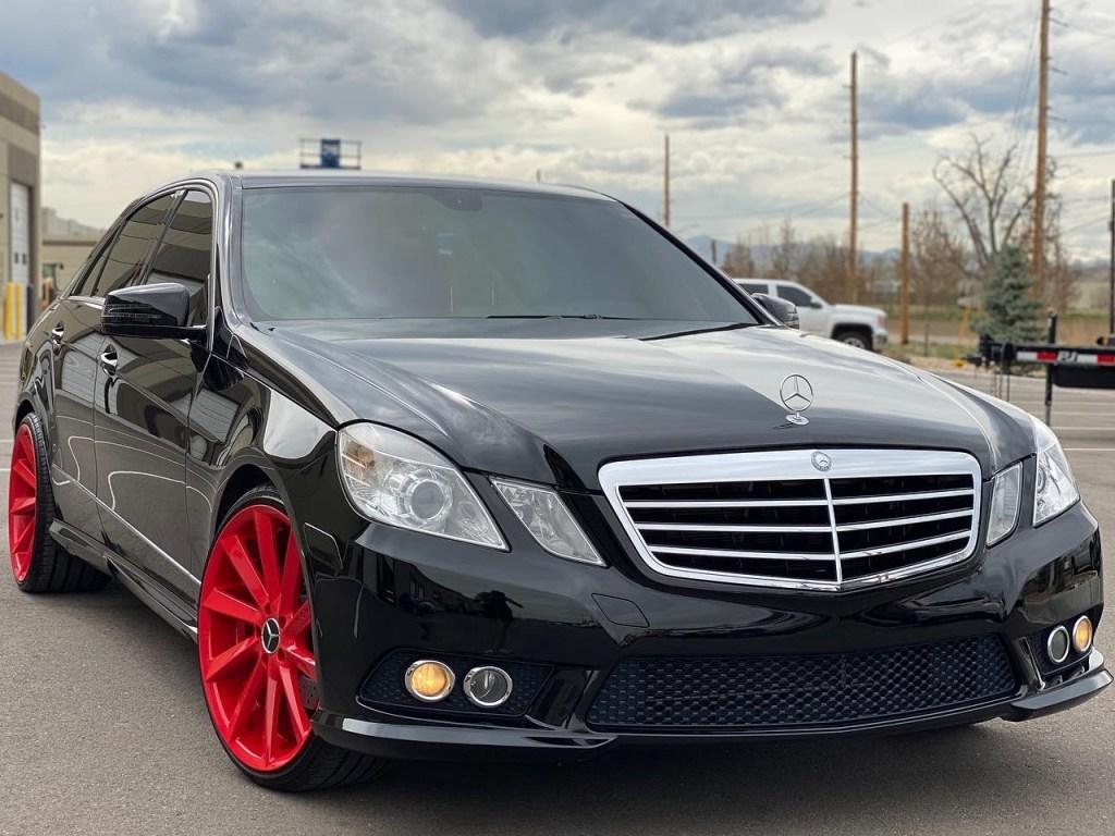 black Mercedes Benz sedan ceramic window tinting