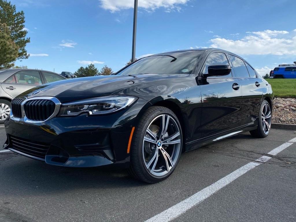 BMW 3-Series window tinting side view